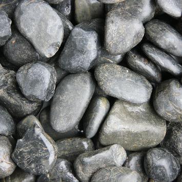 Grind Keien Pebbles Zwart 30-50 mm - Per Zak á 20 kg