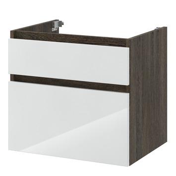 Bruynzeel Monta onderkast wengé/hoogglans wit 60 cm
