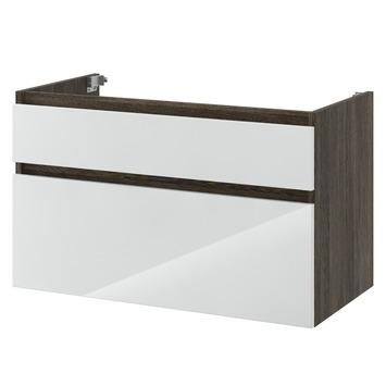 Bruynzeel Monta onderkast wengé/hoogglans wit 90 cm