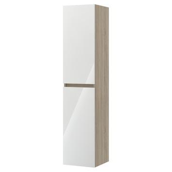 Bruynzeel Monta kolomkast grijs eiken/hoogglans wit 160cm