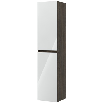 Bruynzeel Monta kolomkast wengé/hoogglans wit 160cm