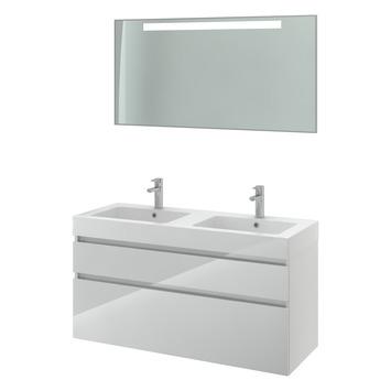 gamma bruynzeel monta badmeubelset met spiegel dubbel