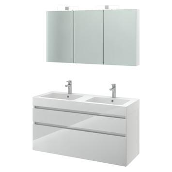 GAMMA | Bruynzeel Monta badmeubelset met spiegelkast hoogglans wit ...