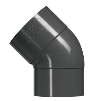 Martens bocht 45° PVC antraciet verjongd 80x80 mm