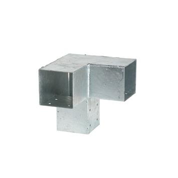Cubic Paalhouder voor pergola hoekstuk dubbel 9x9 cm gegalvaniseerd