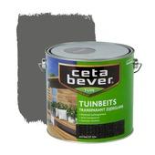 CetaBever tuinbeits transparant antraciet zijdeglans 2,5 liter