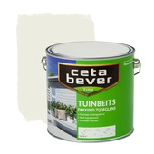CetaBever tuinbeits dekkend RAL 9010 gebroken wit zijdeglans 2,5 liter