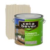 CetaBever tuinbeits transparant vergrijsd wit zijdeglans 2,5 liter