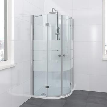 Bruynzeel Vitro kwartrond chroom 195x90x90 cm