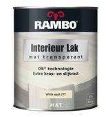 Rambo interieurlak transparant whitewash mat 750 ml
