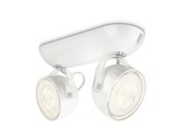 Philips Opbouwspot MyLiving Dyna LED Wit 2 x 3W