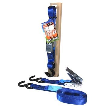 Gamma Jumbo Spanband Blauw 5m 25mm Met Ratel En S Haken Kopen