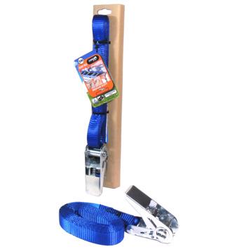 Jumbo spanband blauw 5m 25mm met ratel