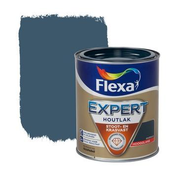 Flexa Expert lak staalblauw hoogglans 750 ml