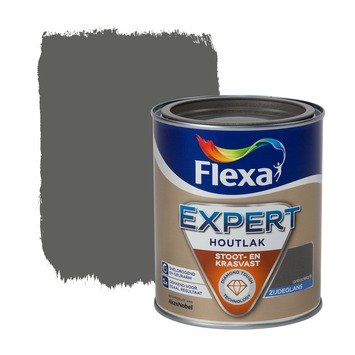 Flexa Expert lak antracietgrijs zijdeglans 750 ml