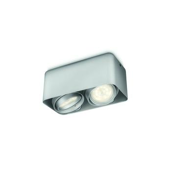 Philips duospot Afzelia LED 2X3W alluminium