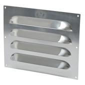 IVC Air schoepenrooster aluminium brut 25x20 cm