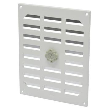 IVC Air afsluitbaar schuifrooster aluminium wit 24,5x19,5 cm
