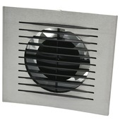 IVC Air inbouwventilator Design met timer aluminium Ø 100 mm
