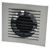 IVC Air inbouwventilator Design met timer aluminium Ø 125 mm