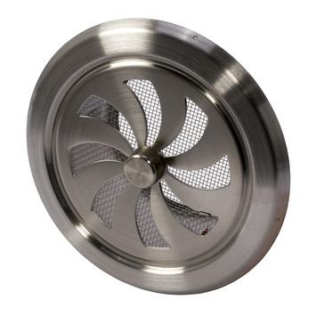 gamma ivc air schuifrooster rond rvs 216 100 mm kopen