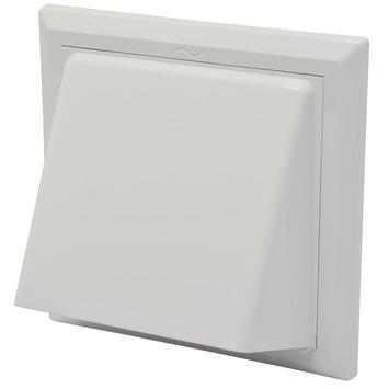 IVC Air overdrukrooster met kap ABS wit Ø 150-160 mm
