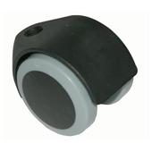 Meubelrol met boutgat zwart maximaal 40kg 50x10mm
