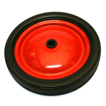 Wiel PVC met velg Ø 148 mm max. 15 kg rood