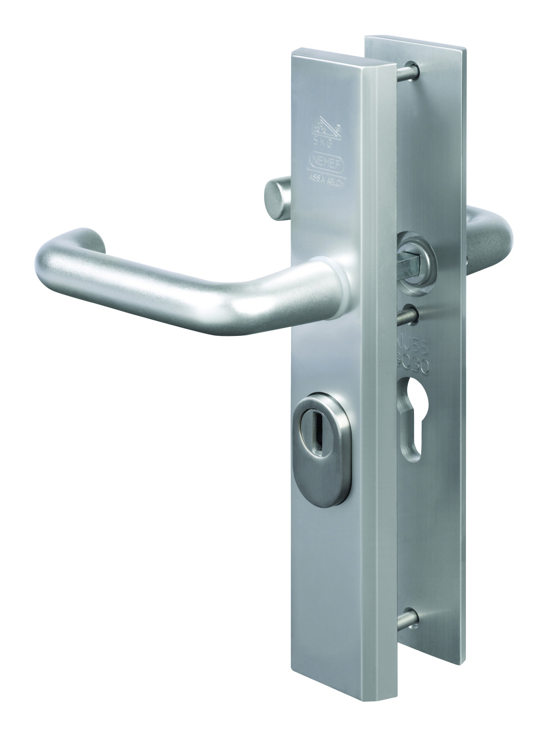 NEME deurbeslag (set) 3417, alu, (lxb) 245x50mm