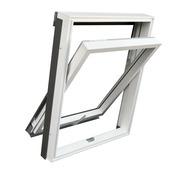 RoofLITE tuimelvenster kunststof wit HR++ glas M4A 78x98 cm