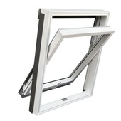 RoofLITE tuimelvenster kunststof wit HR++ glas M6A 78x118 cm