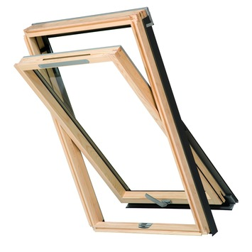 RoofLITE tuimelvenster blank afgelakt HR++ glas S6A 114x118 cm
