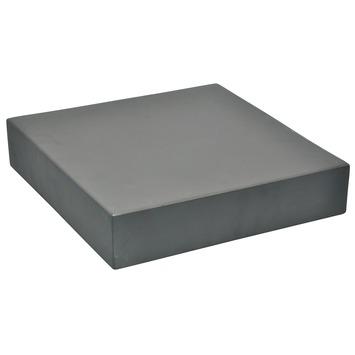 Plantentrolley vierkant maximaal 60 kg fiberclay grijs 30 cm