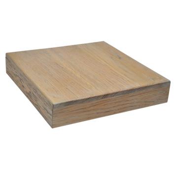Plantentrolley vierkant maximaal 60 kg eiken white wash 30 cm
