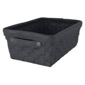 Riva opbergmand textiel zwart 15x38x26 cm