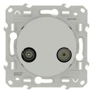 Schneider Electric Odace contactdoos coax aluminium