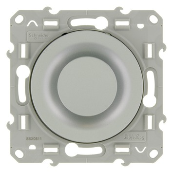 Schneider Electric Odace dimmer gloeilamp/halogeen 60-400W aluminium