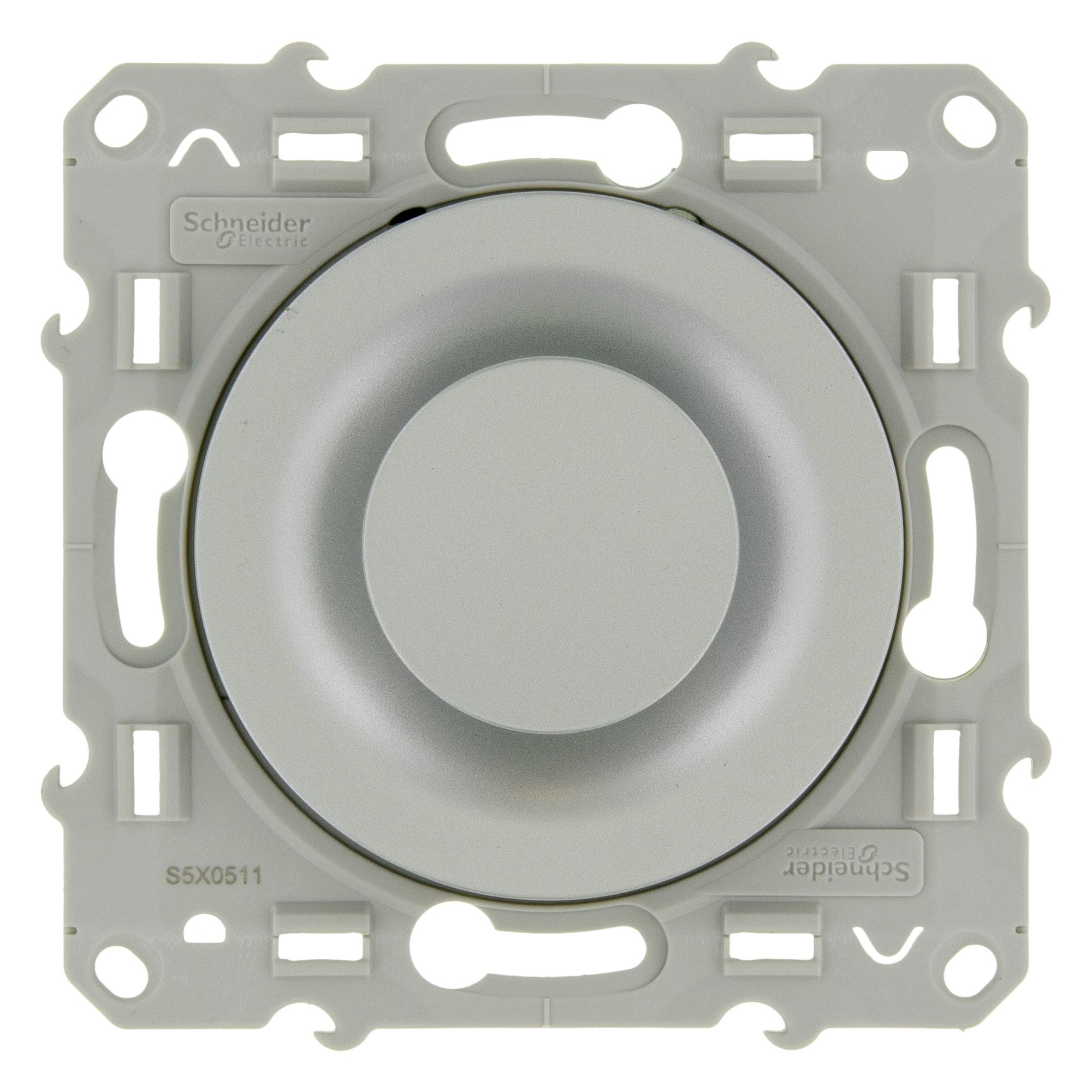 Schneider Electric Odace dimmer inbouw voor 230V gloei-halogeen in blister aluminium