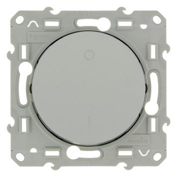 Schneider Electric Odace schakelaar 2-polig aluminium