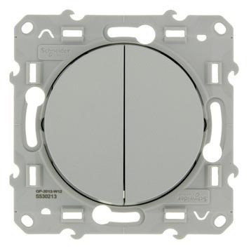 Schneider Electric Odace wissel-wisselschakelaar aluminium
