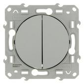 Schneider Electric Odace serieschakelaar aluminium