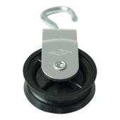 Katrol draaibaar wiel polypropyleen 40 mm
