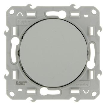 Schneider Electric Odace wisselschakelaar aluminium