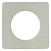 Schneider Electric Odace afdekraam 1-voudig aluminium/wit