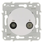 Schneider Electric Odace contactdoos coax wit