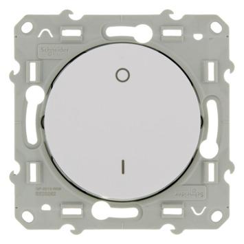 Schneider Electric Odace schakelaar 2-polig wit