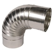 Bocht 90° aluminium 110x110 mm