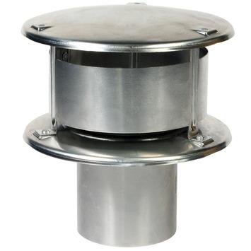 Rookgaskap aluminium 100 mm blank