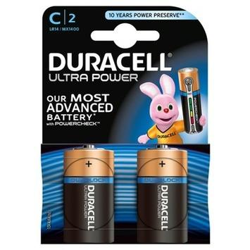 Duracell Ultra Power Duralock batterij C 2 stuks