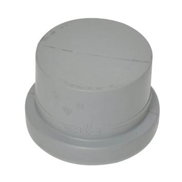 Afsluitkap PPC grijs 50 mm